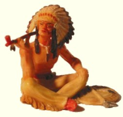 sitting chief made by Hausser/Elastolin